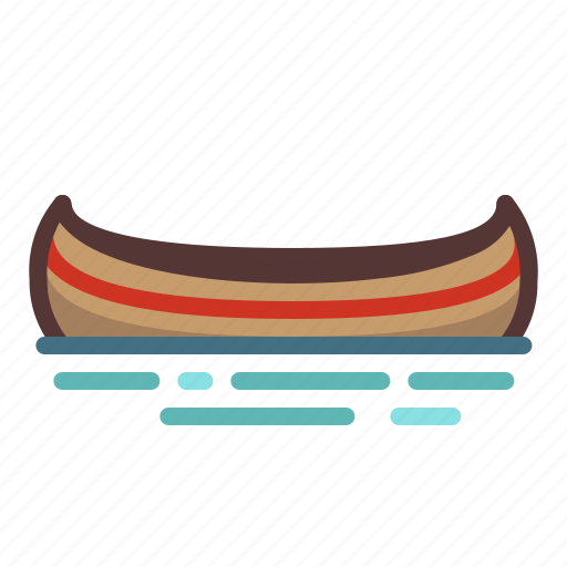 boat, boating, camping, canoe, canoeing, outdoors, water icon