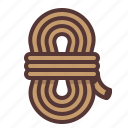 climbing, coil, mountaineering, rope, twine icon