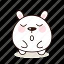 sleepy, animals, pet, character, kawaii
