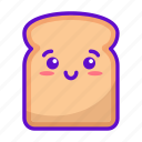 food, bread, cute, kawaii icon