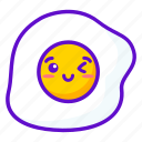 kawaii, egg, cute, food icon
