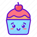 food, cupcake, cute, kawaii icon