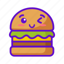 food, burger, cute, kawaii icon