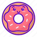 food, cute, donut, kawaii icon
