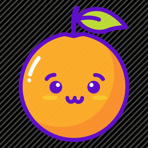 Fruit Kawaii Cute Orange Icon