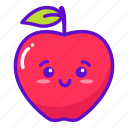 fruit, apple, cute, kawaii icon