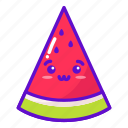 watermelon, food, cute, kawaii icon