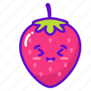 fruit, cute, strawberry, kawaii icon