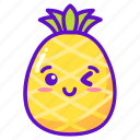 cute, fruit, kawaii, pineapple