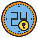 clock, data, key, save, service icon