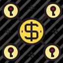 around, coin, key, us, money
