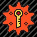 gear, hardware, key, service icon