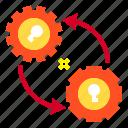 data, gear, key, save icon