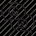 box, chat, key, save icon