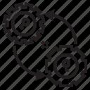 gear, key, save, service icon