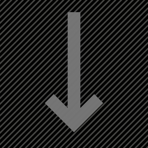 arrow, down arrow icon