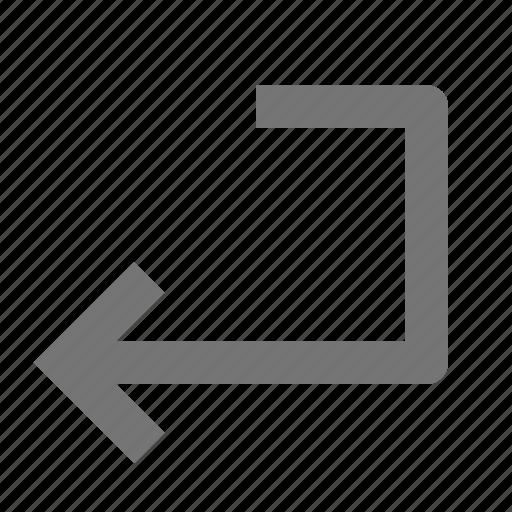 arrow, enter key icon