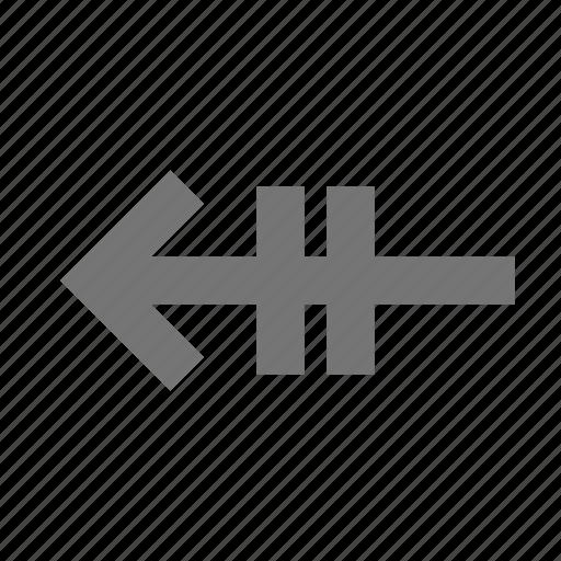 arrow, left arrow, page back icon