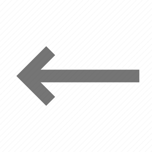 arrow, left arrow icon