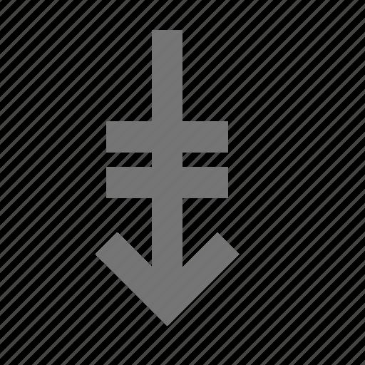 arrow, down arrow, page down icon