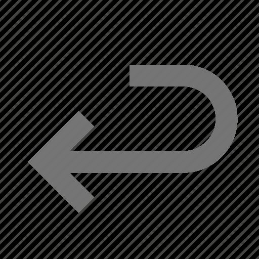 arrow, keyboard, return key icon
