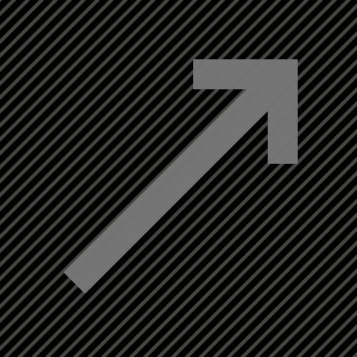 arrow, diagonal arrow icon