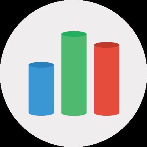 analytics, chart, keynote icon