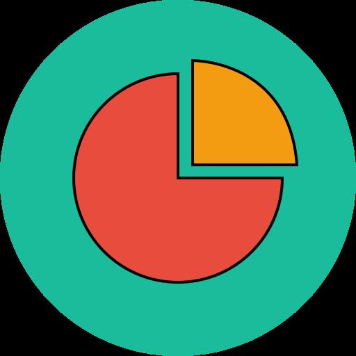 analytics, cake, chart, keynote icon
