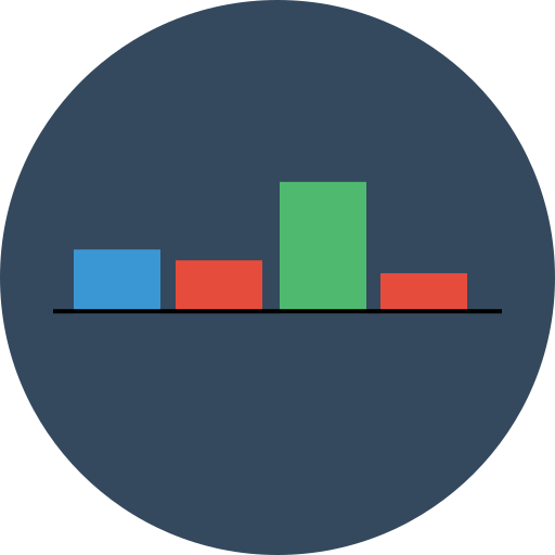 analytics, chart, keynote, up icon