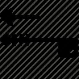 arrow, door, key, left, open icon