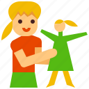 kid, girl, doll, toy, playing icon