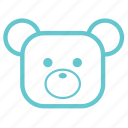 babies, baby, bear, children, cute, kids, small, teddy, teddy bear, toy icon