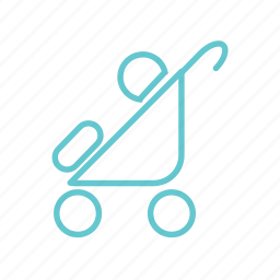 baby, children, game, kids, mother, play, ride, small, toy, trolley icon