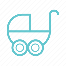 baby, children, fun, game, kids, mother, play, ride, small, toy, trolley icon