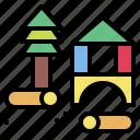 block, cube, education, toys icon