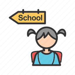 children, going, group, kid, kids, school, walking icon