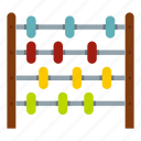 abacus, children abacus, education, kid, math, school, toy icon
