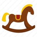 animal, baby, boy, child, childhood, craft, toy horse icon
