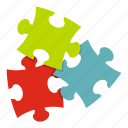 challenge, jigsaw, leisure, order, puzzle, teamwork, toy icon