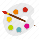 artist, artistic, brush, paint, paintbrush, painter, palette icon