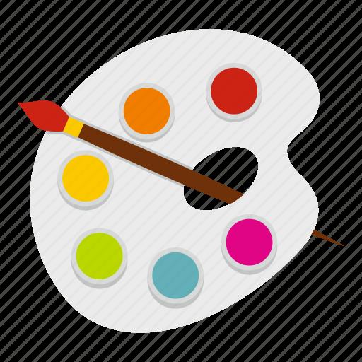 artist, artistic, brush, paint, paintbrush, painter, palette icon