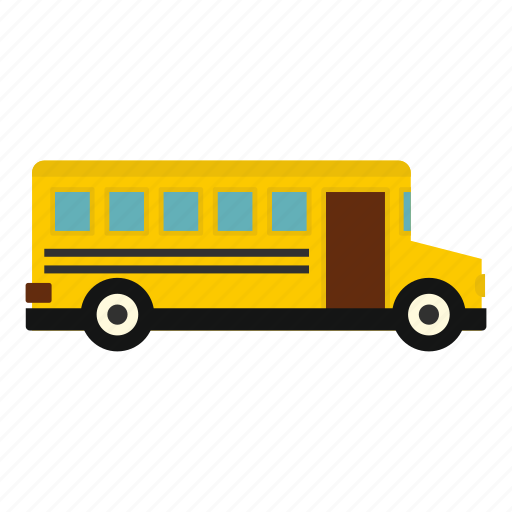 automobile, bus, carriage, carrying, children, driving, school bus icon