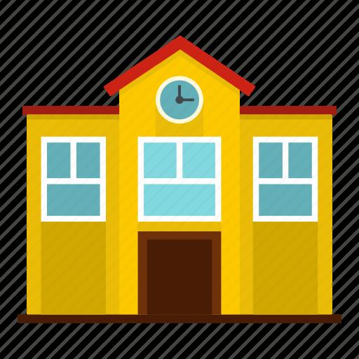 building, children, city, college, construction, educate, school icon