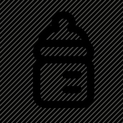 baby, bottle, child, kindergarten, vial icon