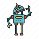 childhood, children, kids, kindergarten, play, robot, toys icon