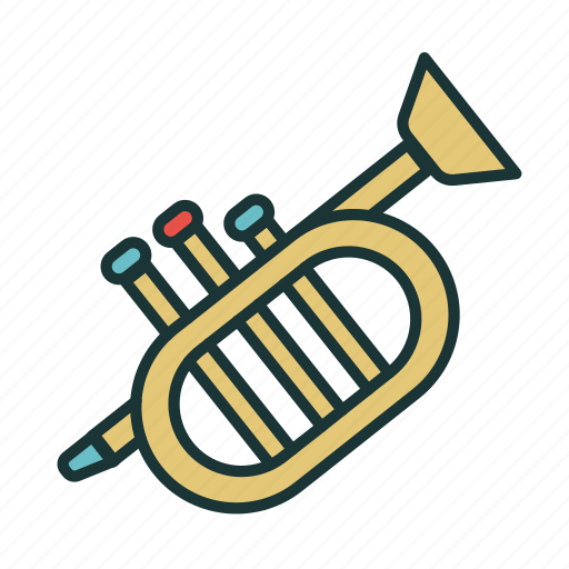 jazz, kids, melody, music, play, toys, trumpet icon