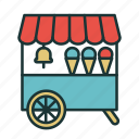 childhood, ice cream, ice cream trolley, kids, kids food, kindergarten, playground icon