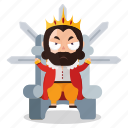 dictator, emoji, emoticon, king, ruler, sticker icon