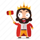 emoji, emoticon, king, selfie, sticker icon