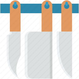 cutlery, knife, knives, meat cleaver, utensils icon